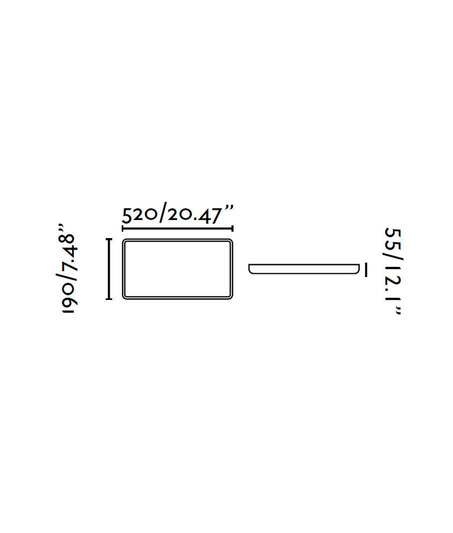 Medidas lámpara plafón LED SOGO-1 blanca