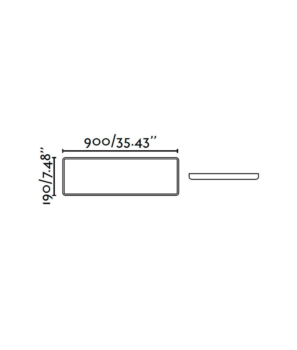 Medidas lámpara plafón LED SOGO-3 blanca