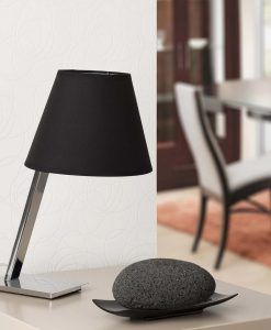 Lámpara sobremesa negra MOMA ambiente