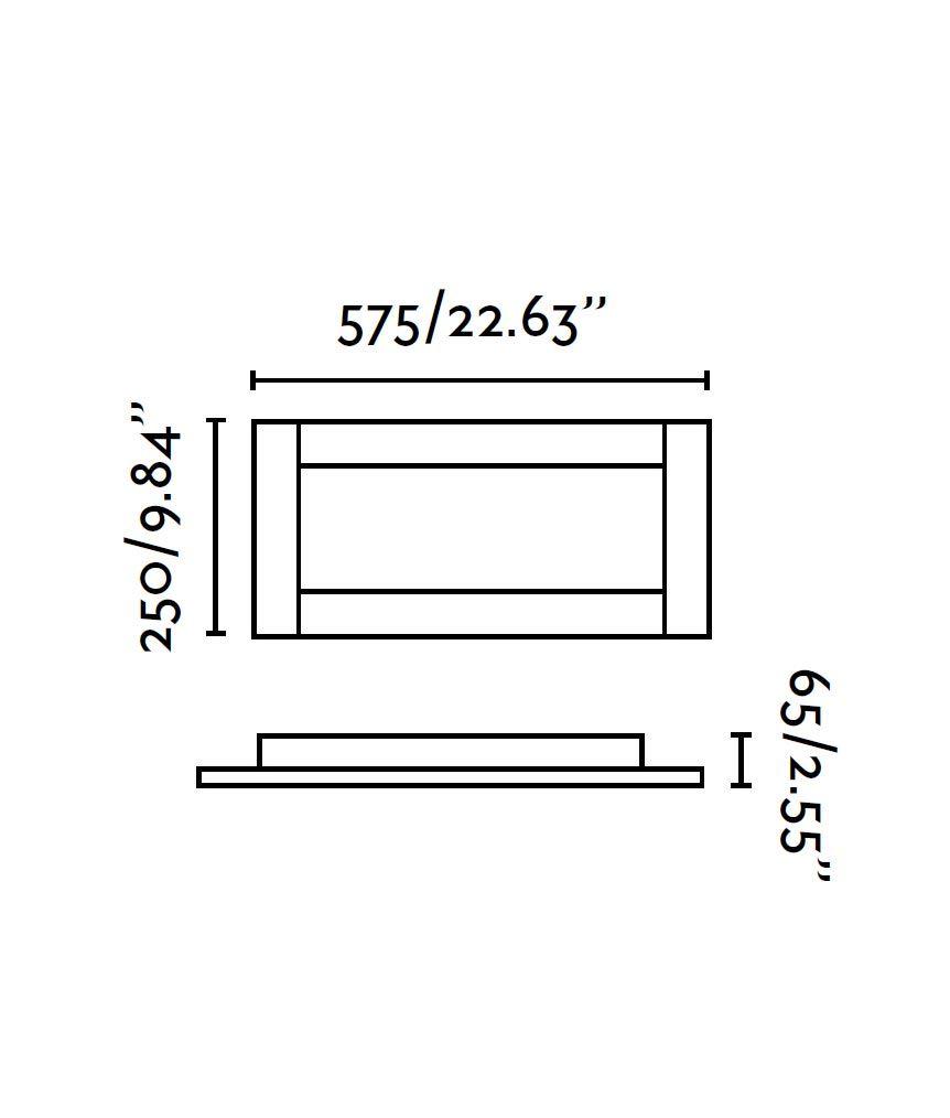 Medidas plafón 2 luces cromo y marrón AZOR