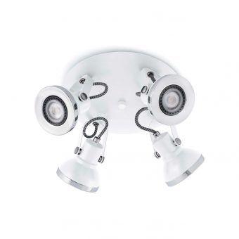 Plafón blanco RING 4 luces