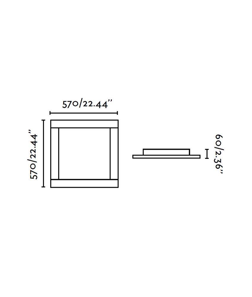 Medidas plafón cromo y marrón AZOR