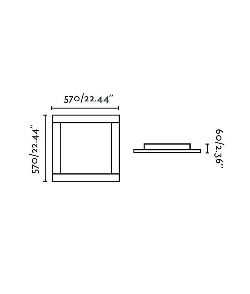Medidas plafón cromo y níquel mate AZOR