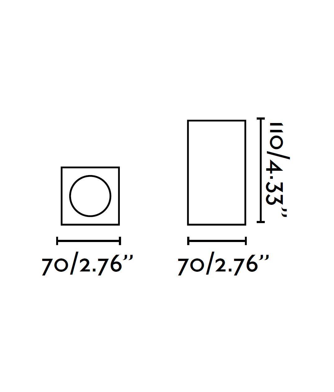 Medidas plafón cuadrado SVEN blanco