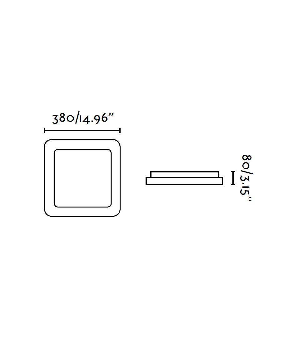 Medidas plafón LED grande IRIS gris