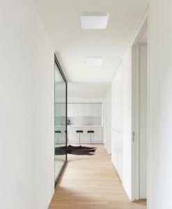 Plafón LED mediano IRIS gris ambiente
