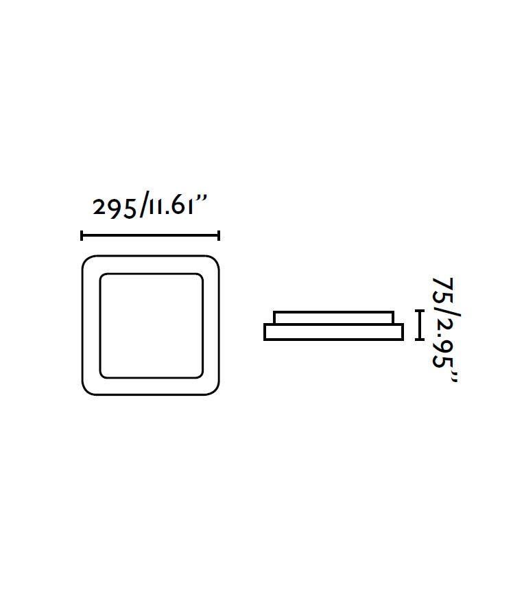Medidas plafón LED mediano IRIS gris