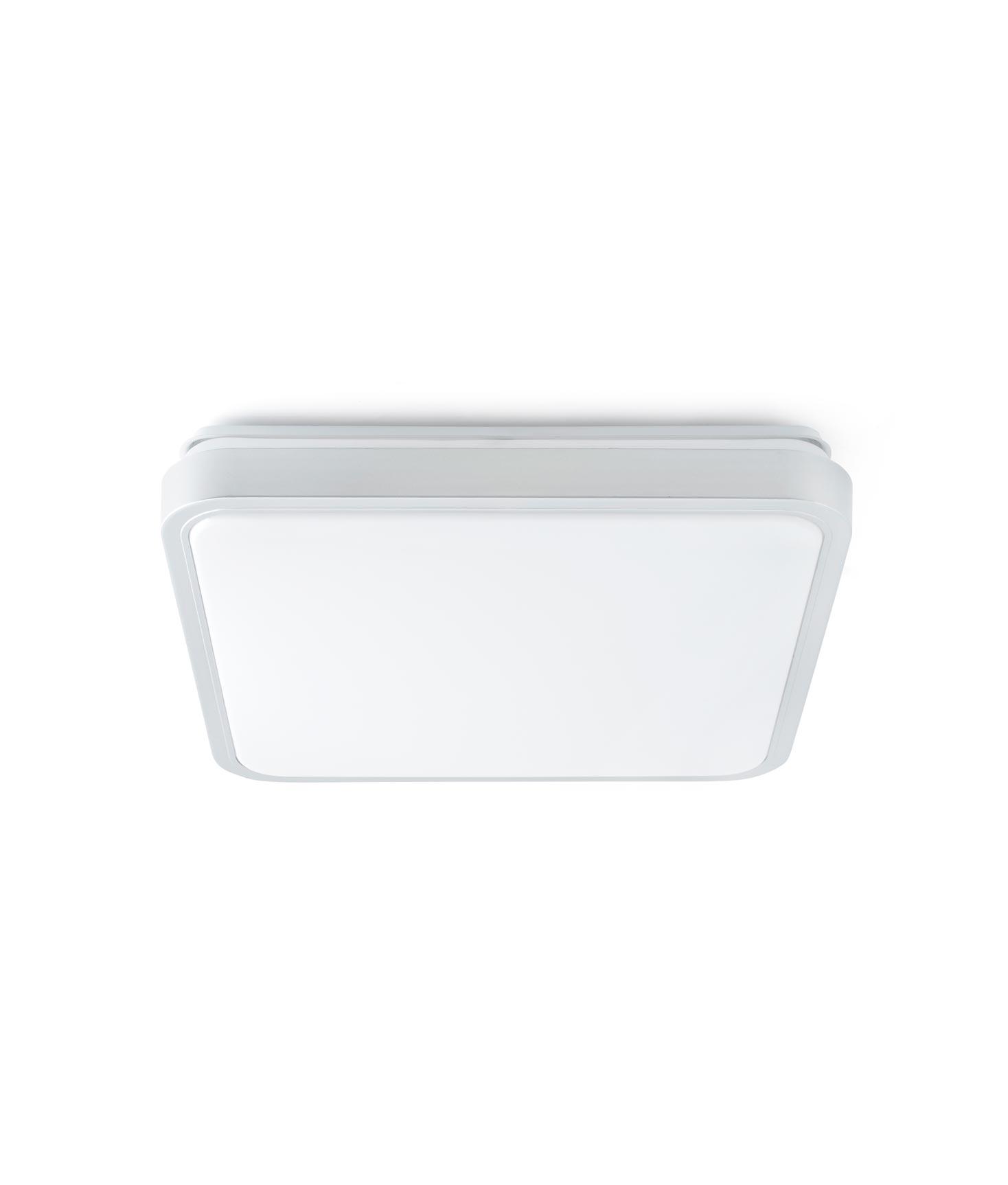 Plafón LED mediano IRIS gris