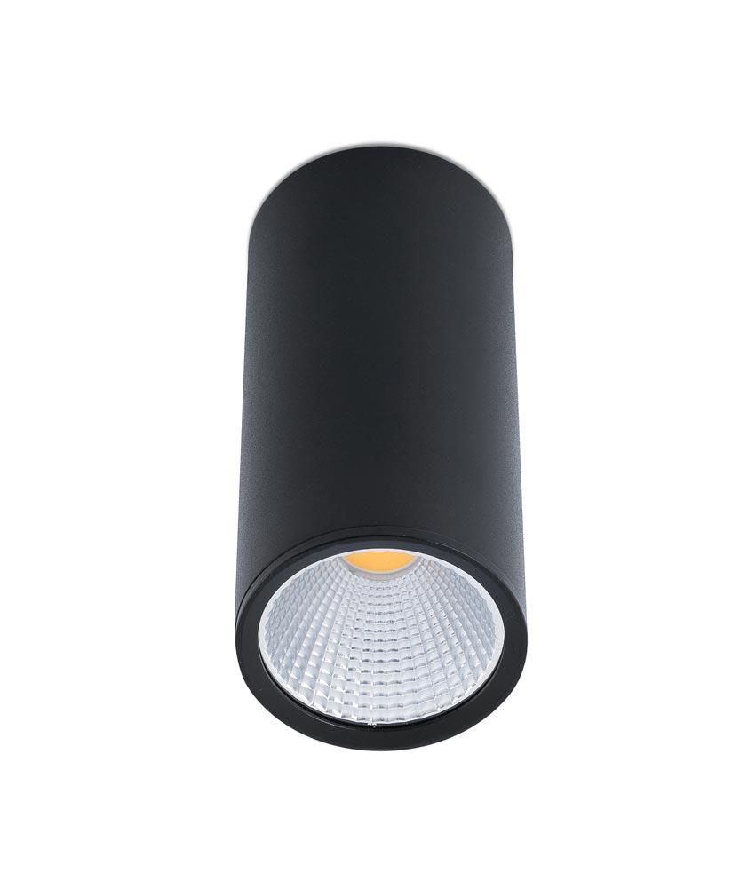 Plafón LED pequeño negro REL