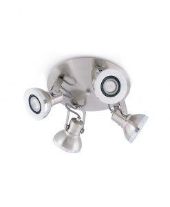 Plafón níquel mate RING 4 luces