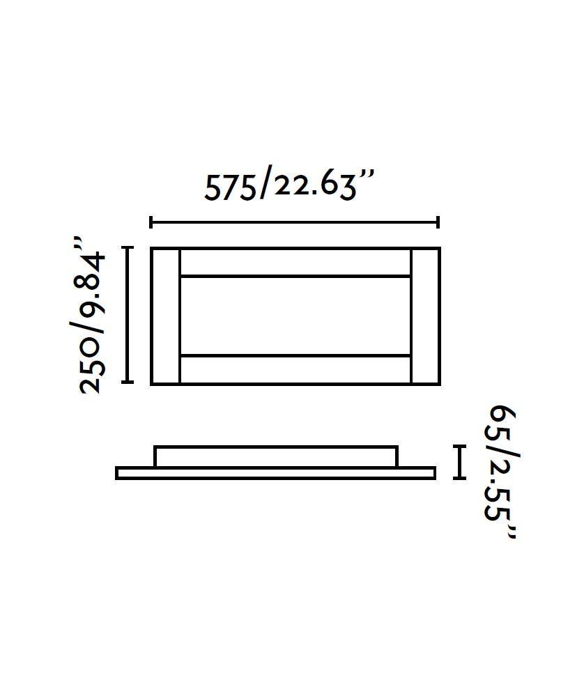 Medidas plafón níquel y cromo AZOR