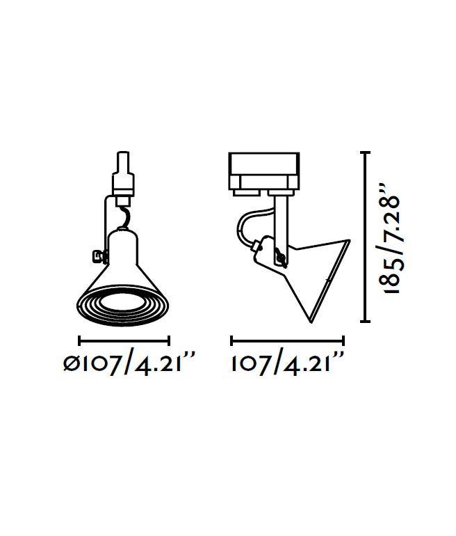 Medidas proyector de carril cobre CUP