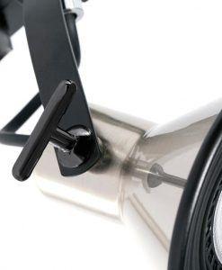 Proyector de carril níquel satinado CUP detalle