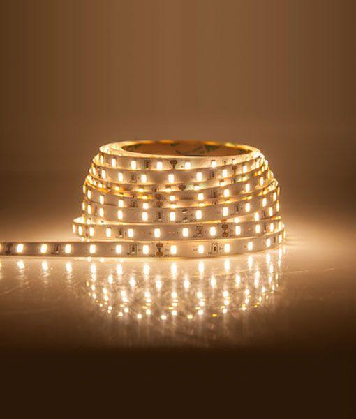 Tira LED blanco cálido 5m autoadhesiva detalle