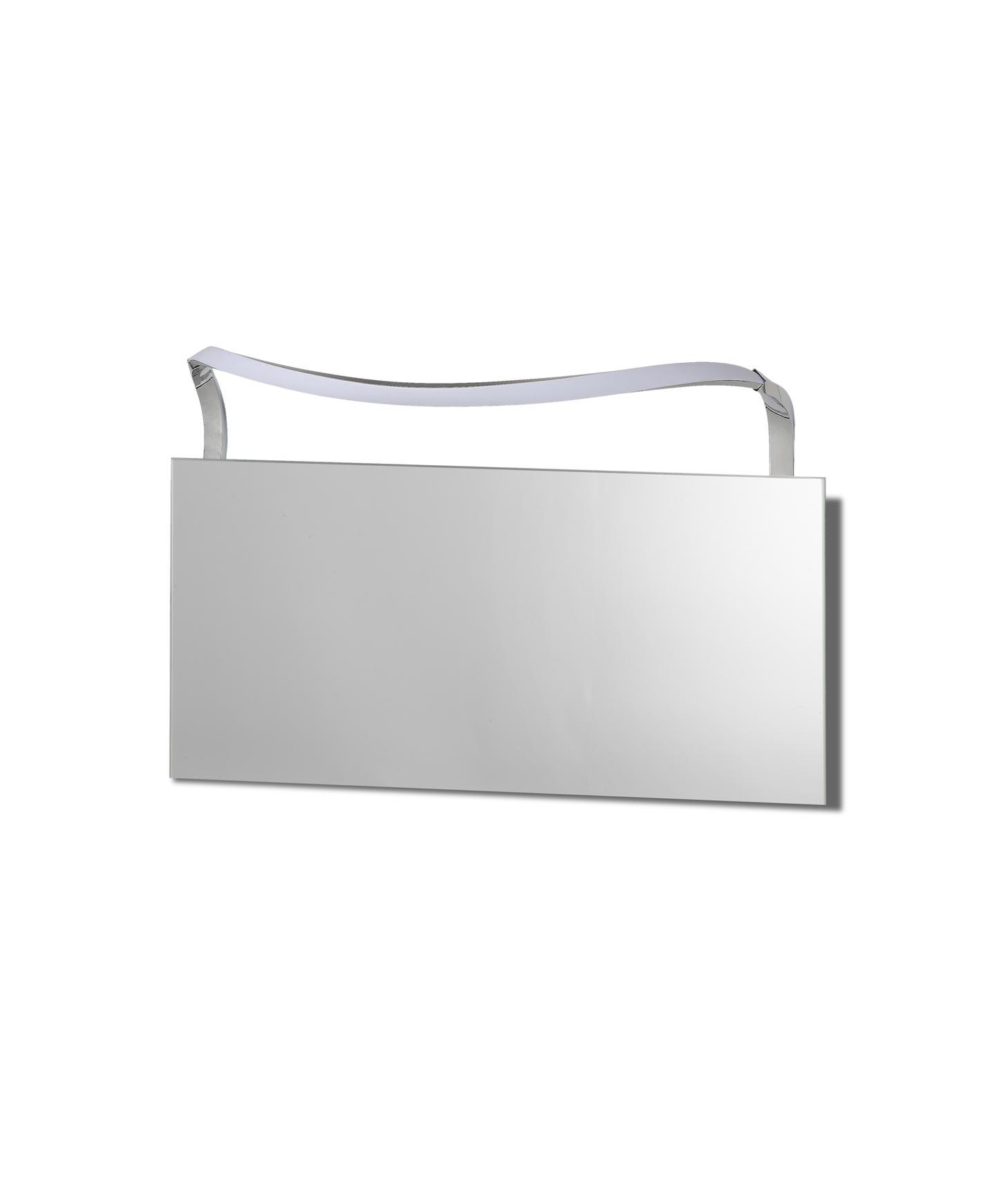 Aplique baño ondas grande SISLEY plata cromo