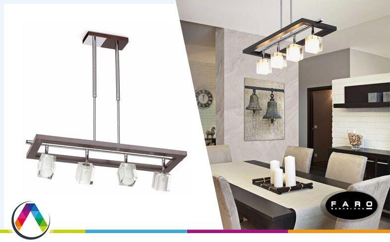 Lámpara colgante moderna ALAMO en La Casa de la Lámpara