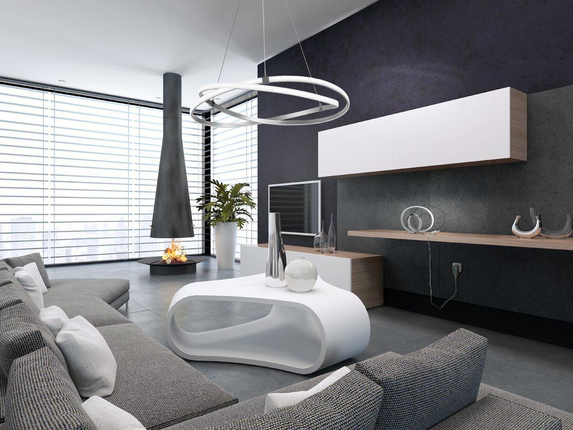 Lámpara de techo grande cromo INFINITY ambiente