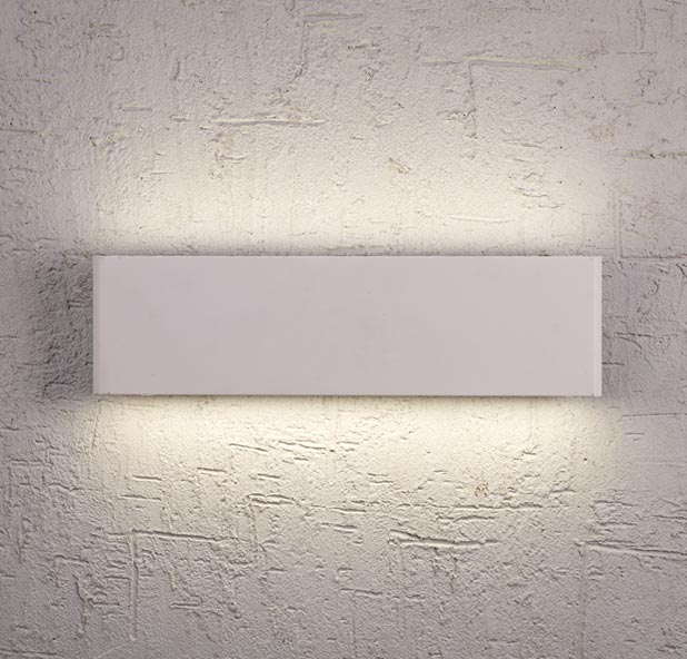 Aplique LED rectangular PETACA blanco ambiente
