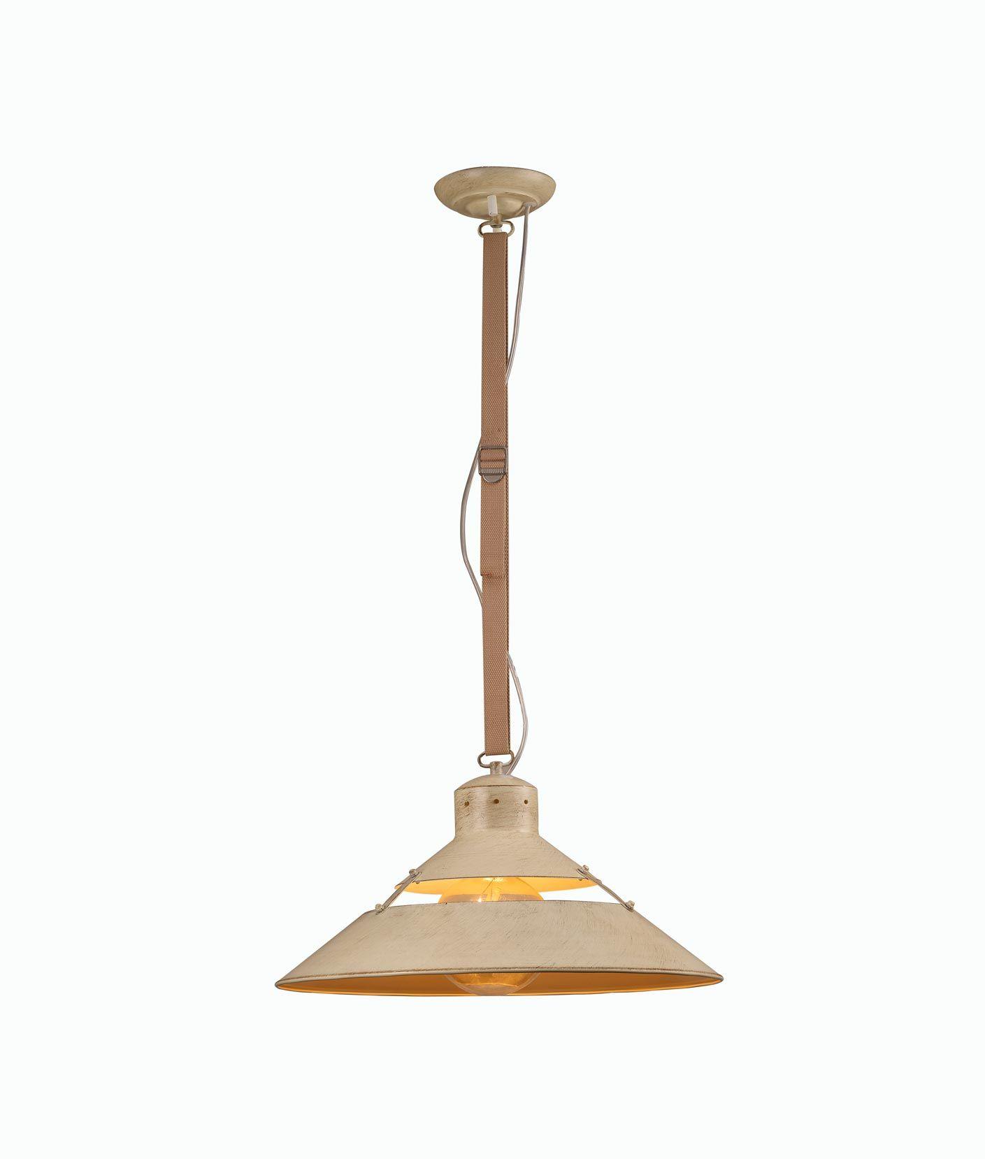 Lámpara colgante beige grande INDUSTRIAL