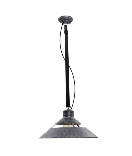 Lámpara colgante grande INDUSTRIAL gris ceniza