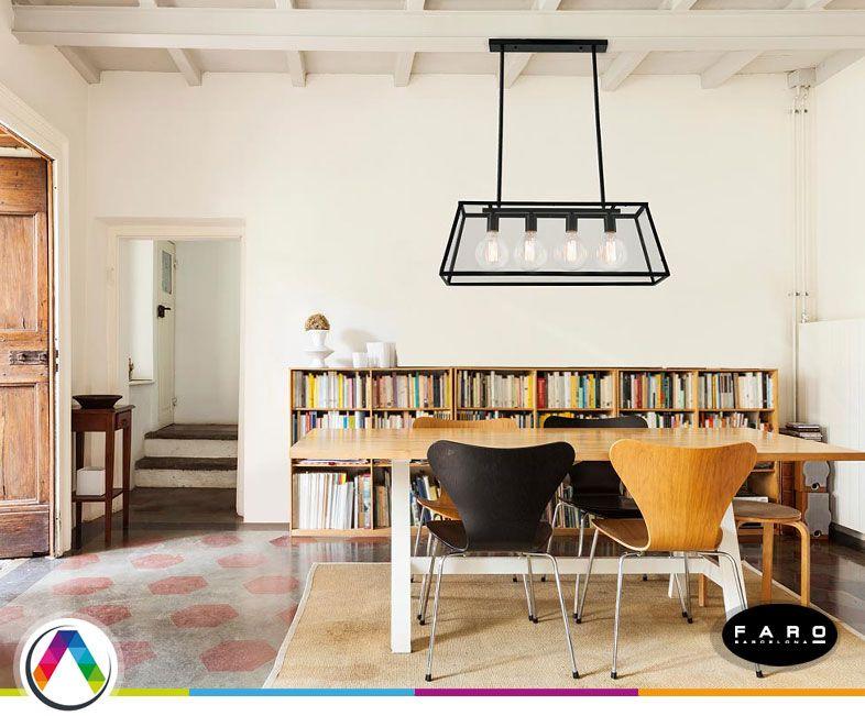 Lámpara colgante industrial ROSE - La Casa de la Lámpara