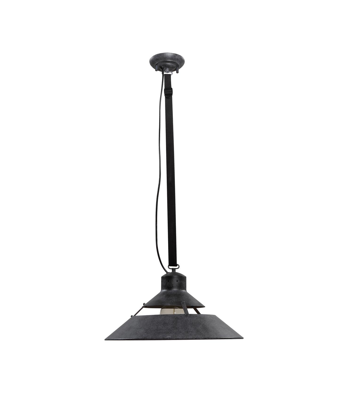 Lámpara colgante negra grande INDUSTRIAL