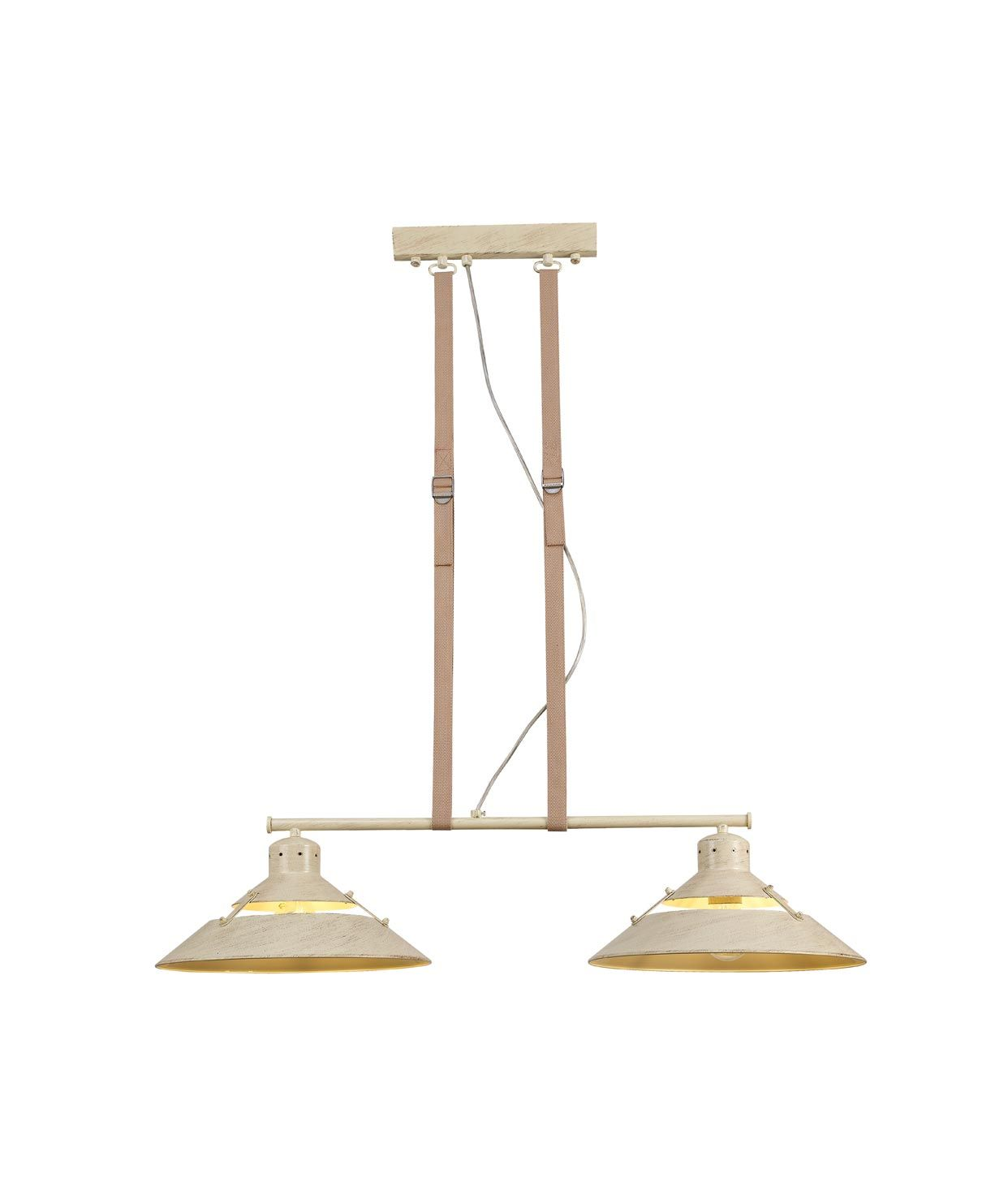 Lámpara de techo beige 2 luces INDUSTRIAL