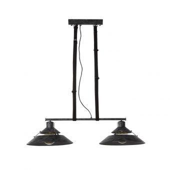 Lámpara de techo negra 2 luces INDUSTRIAL