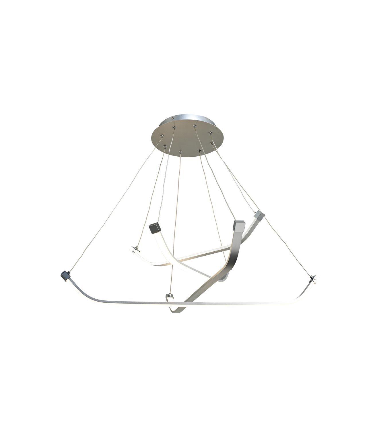 Lámpara de techo pequeña PAPUA LED cromo plata