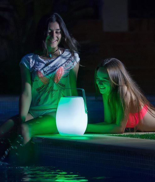 Lámpara portátil con altavoz BARREL ambiente