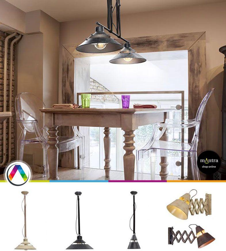 Lámparas industriales Mantra en La Casa de la Lámpara