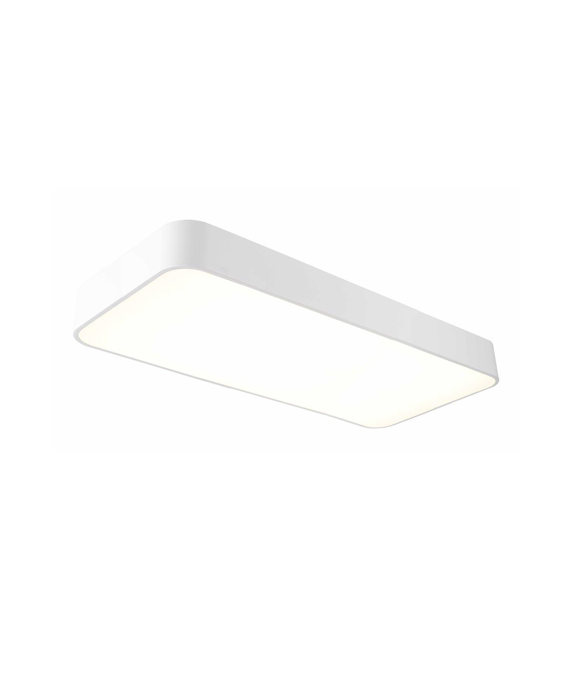 Plafón rectangular pequeño CUMBUCO blanco