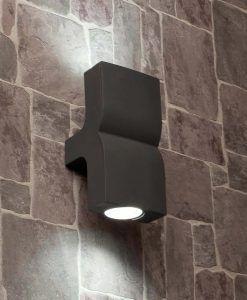 Aplique 2 luces gris oscuro KLAMP ambiente