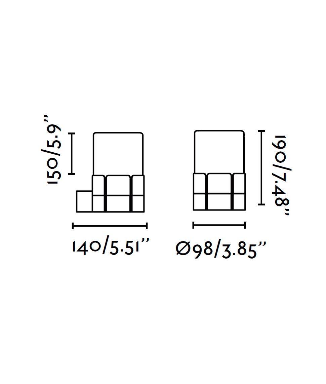 Medidas aplique blanco exterior TRAM