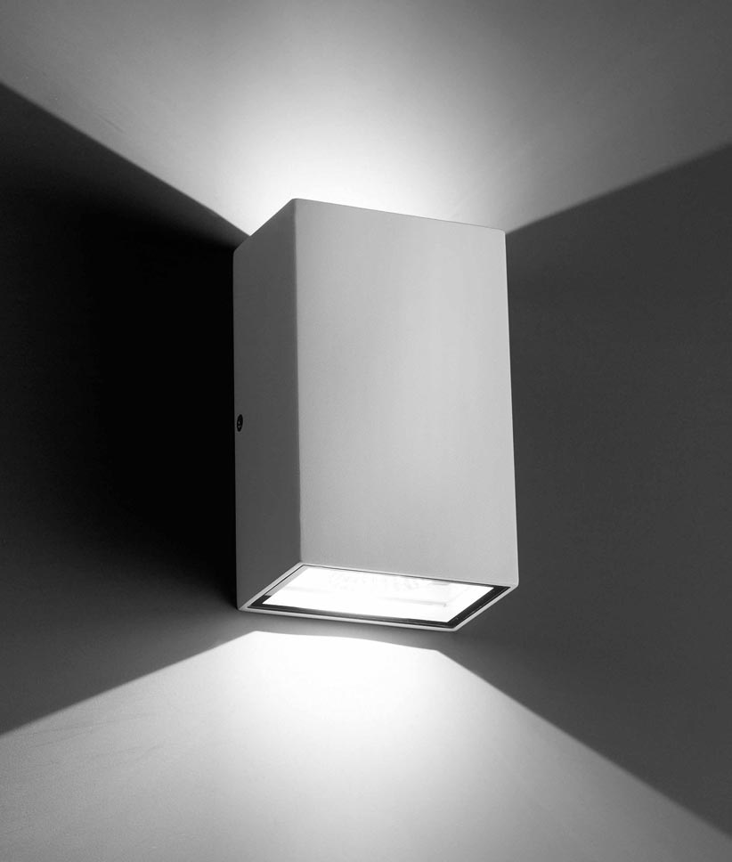 Aplique blanco LING LED detalle