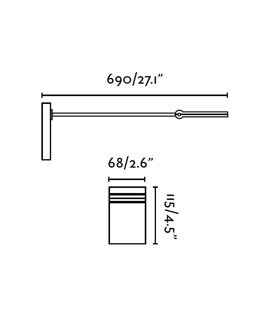 Medidas aplique con brazo TORAN LED