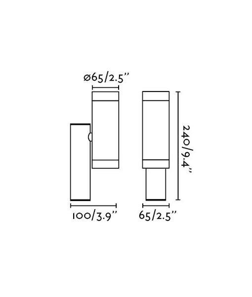 Medidas aplique gris oscuro exterior STEPS