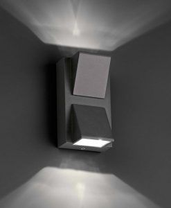 Aplique KAMAL-2 LED gris oscuro detalle