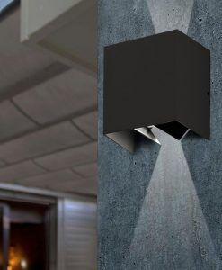 Aplique LED gris oscuro OLAN ambiente