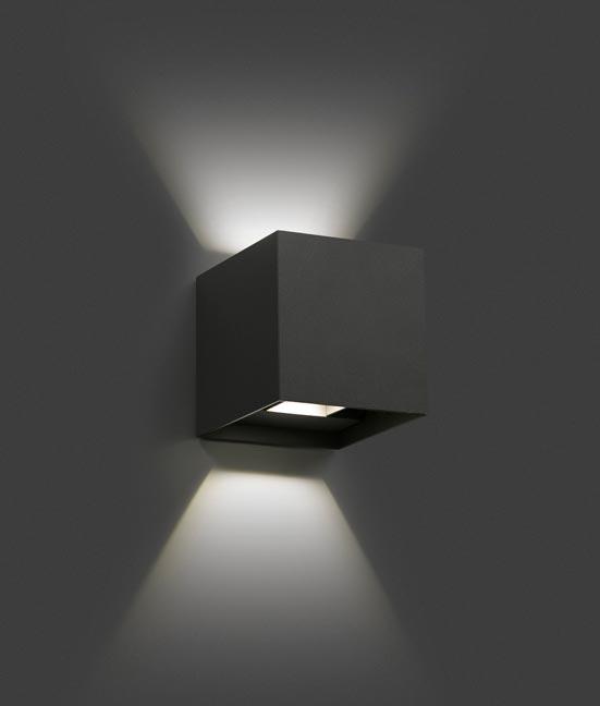 Aplique LED gris oscuro OLAN detalle