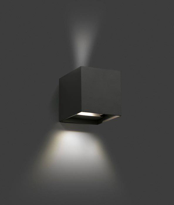 Aplique LED gris oscuro OLAN detalle 2