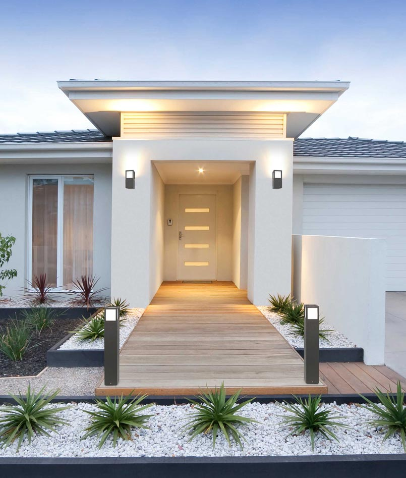 Aplique moderno exterior onze la casa de la l mpara for Lamparas para exteriores de casas