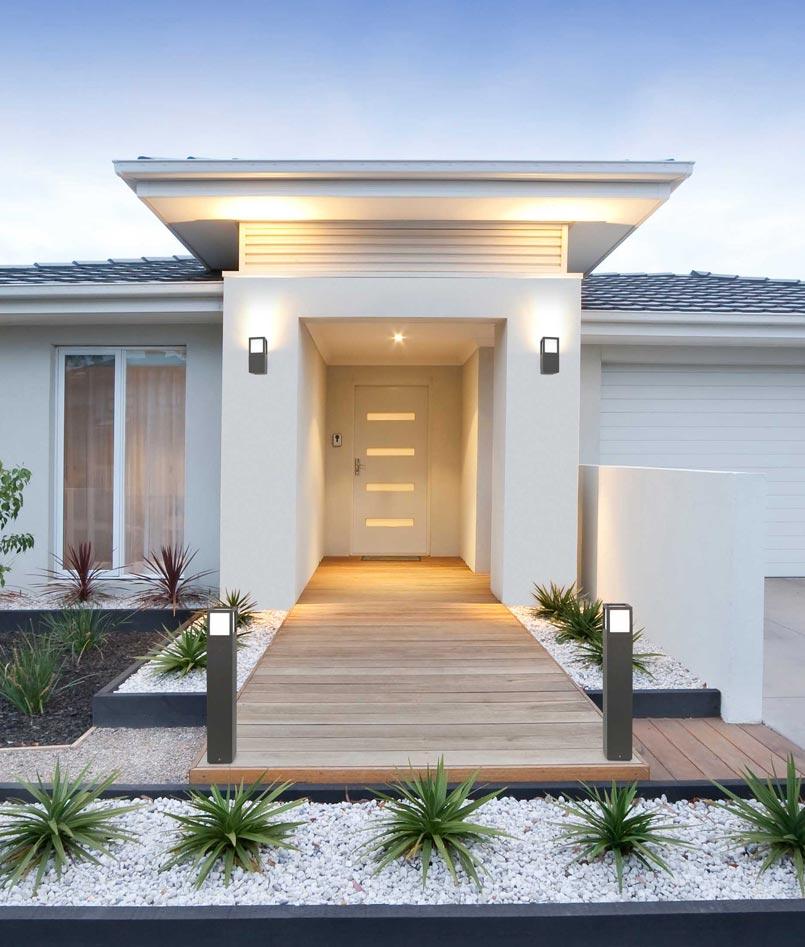 Aplique moderno exterior onze la casa de la l mpara for Apliques exterior modernos