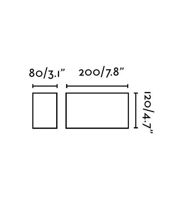 Medidas aplique moderno para exterior TANE LED