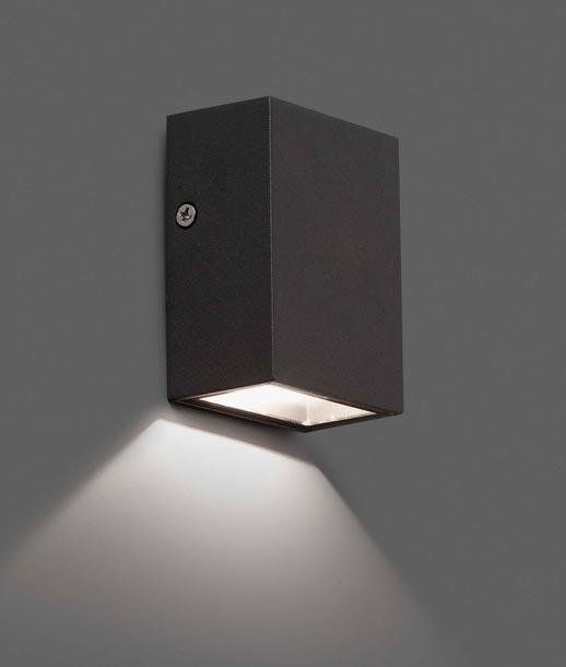 Aplique negro CANON-2 LED detalle