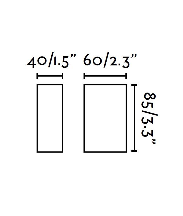 Medidas aplique negro CANON-2 LED