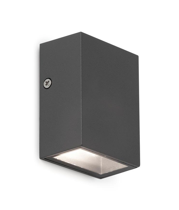 Aplique negro CANON-2 LED