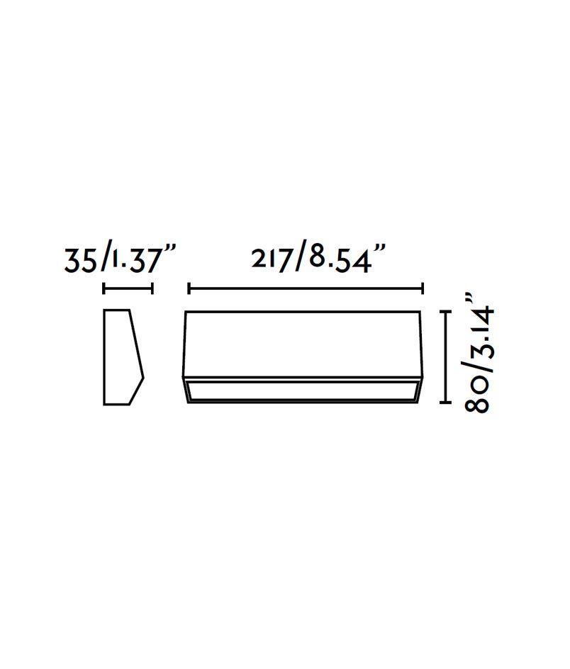 Medidas aplique para exteriores MUST-3 LED