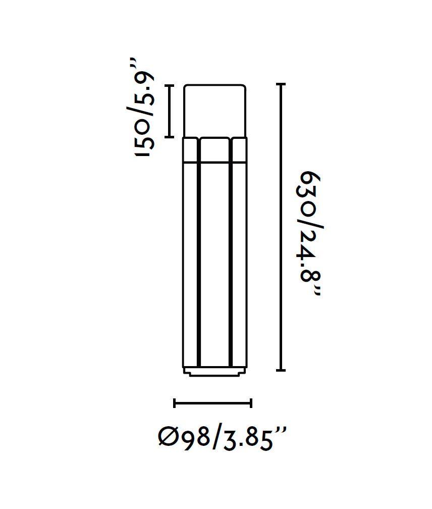 Medidas baliza 63 cm TRAM gris oscura