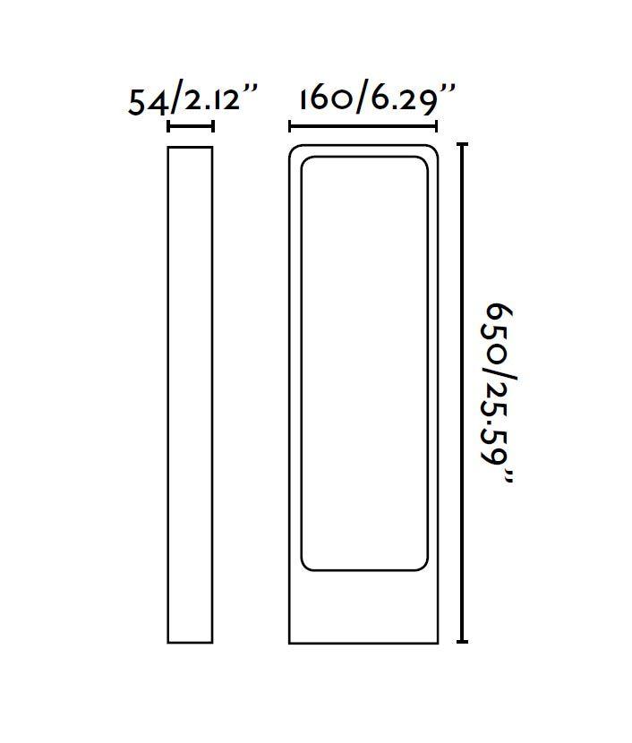 Medidas baliza 65 cm DAS LED gris oscura